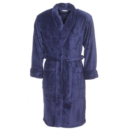 358f414b1e26 Mariner - Robe de chambre col châle en polaire bleu marine - pas cher Achat    Vente Peignoirs de bain - RueDuCommerce