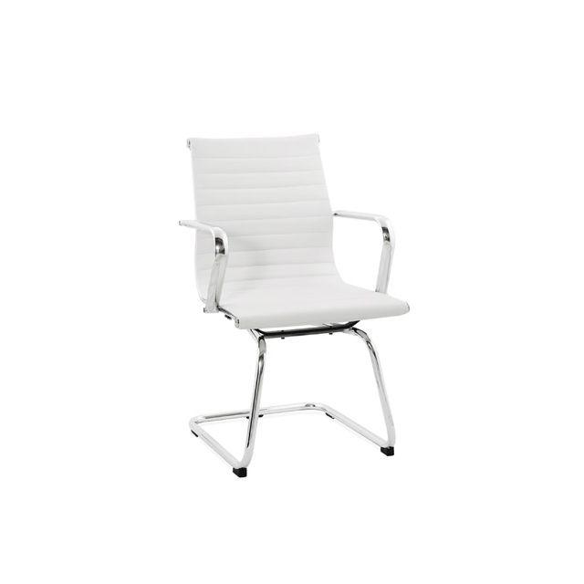 Fauteuil de bureau 54x59x90cm Youn - blanc