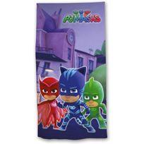 Disney Junior - Pyjamasque Pj Masks - Serviette de Bain - Drap de Plage Coton