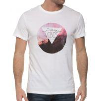 Casual Friday - T-shirt Blanc Avec Sérigraphie Col Rond
