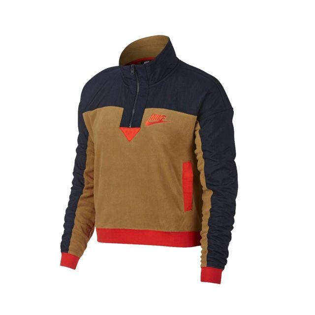 super populaire 0dd4e 64240 Nike - Sweat W Nsw Top Half Zip Polar - 938963-255 - pas ...