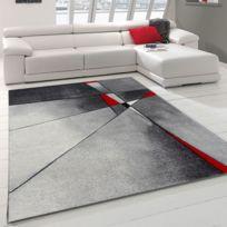 UN AMOUR DE TAPIS - Tapis PHYLO rouge Tapis Moderne 80 x 150 cm rouge 80 x 150 cm