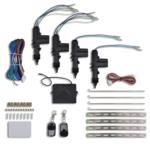 Rocambolesk - Superbe Alarme verrouillage centralisé pour voiture+2 télécommandes+4 motreurs Neuf