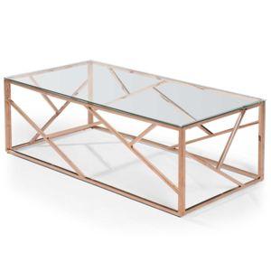 soldes menzzo table basse op ra en verre transparent et. Black Bedroom Furniture Sets. Home Design Ideas