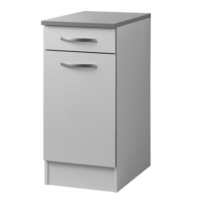 Paris prix meuble bas 40cm smarty blanc sebpeche31 for Meuble bas prix