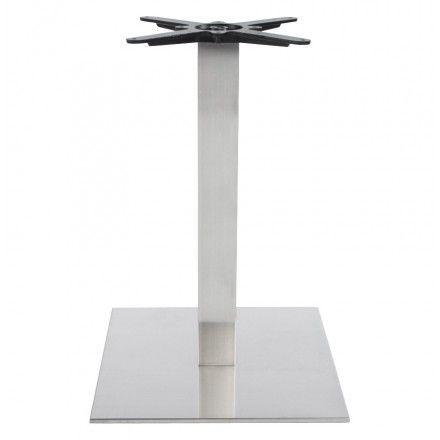 TECHNEB Pied de table WIND carré sans plateau en acier brossé 50cmX50cmX73cm, acier