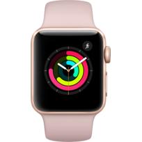 Watch 3 38 - Alu or / Bracelet Sport rose des sables