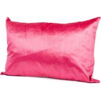 Harmony - Housse de coussin Jaipur en lin et velour - Rose - 40cm X 60cm