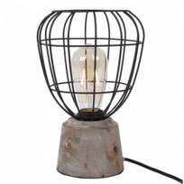 Generique Lampe A Poser Fitzgerald Lampe Bureau Bois Pied Fil
