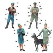 Master Box - Figurines 2ème Guerre Mondiale : Femmes au combat : Luftwaffe Helferinnen
