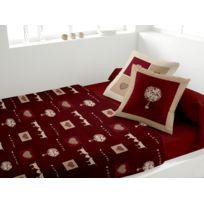 Soleil D'OCRE - Parure le lit 4 pièces Meribel rouge