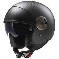 Ls2 - casque demi jet Carbone moto scooter Of597.10 Cabrio carbone mat 2XL