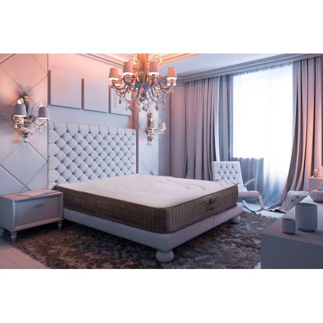 Bezen Matelas Ergonomique 90x190 à mémoire de forme + mousse haute résilience Bellagio Deluxe Total Confort