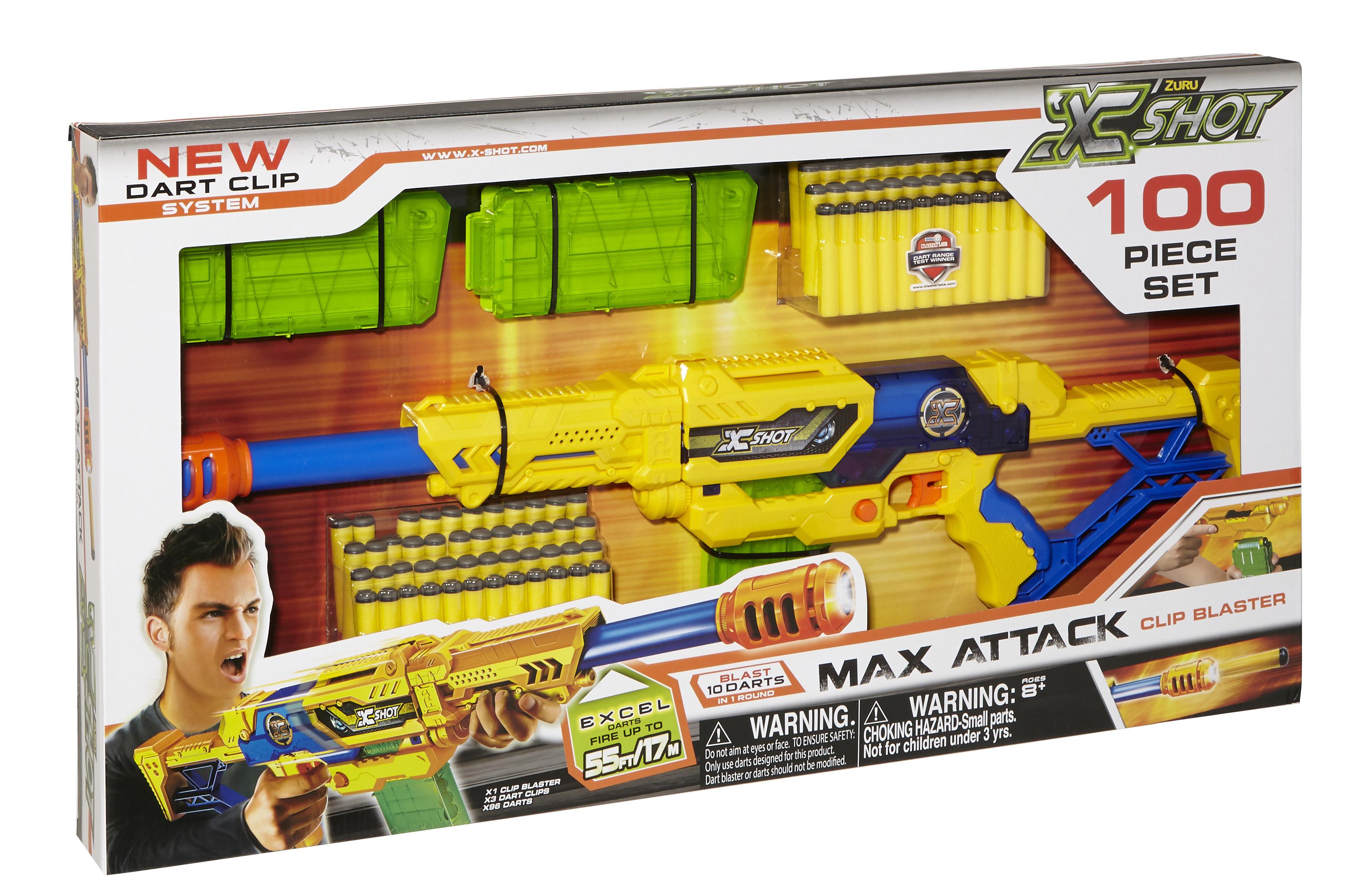 Fusil avec fléchettes en mousse - 100 pièces - 36127