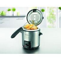 Tv unser Original - Mini friteuse / Appareil à fondue compacte - Multifonction en Inox - Avec 6 pics inclus
