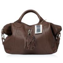 Oh My Bag - Sac à Main Cuir grainé femme - Sac à main porté main et bandoulière - Modèle Chambord