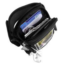 Avizar - Brassard sport néoprène noir Multi-rangements Smartphone taille 3XL