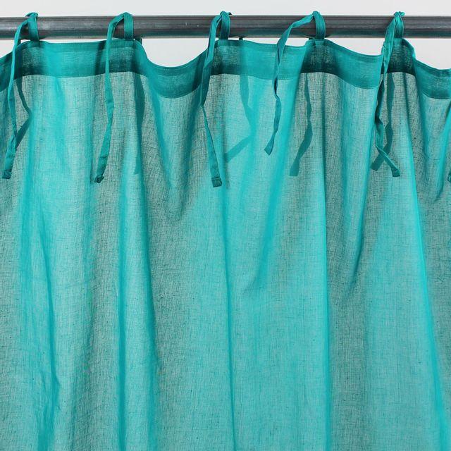 Alinea Lola Text Voilage A Nouettes En Coton 105x140cm Turquoise