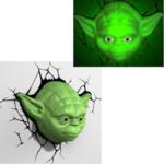 Eurobric 2000 - Star Wars Lampe Murale Yoda