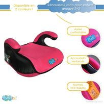 Bebe Lol - Réhausseur auto pour enfant Bébélol® groupe 2+3 normes Ece R44/04 - rose