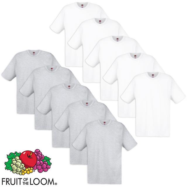 10 t-shirts originaux 100 % coton Blanc et