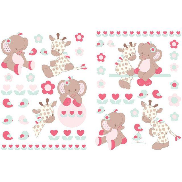 Nattou Autocollants Stickers Decoratifs Charlotte Rose Pas
