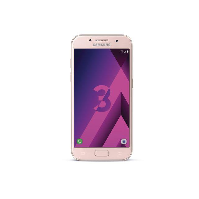 """Samsung Galaxy A3 2017 - Rose Débloqué et compatible tous opérateurs - Ecran tactile Super AMOLED 4,7"""" en 720 x 1280 pixels (312 ppp) - Corning Gorilla Glass - Android 6.0 Marshmallow - InterfaceSamsung TouchWiz - Processeu"""