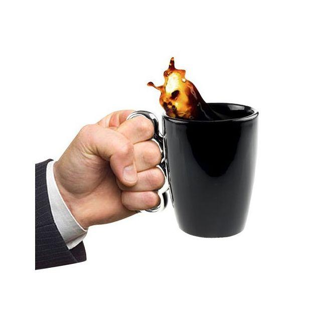 Totalcadeau Mug à anse poing américain - Coup de poing tasse