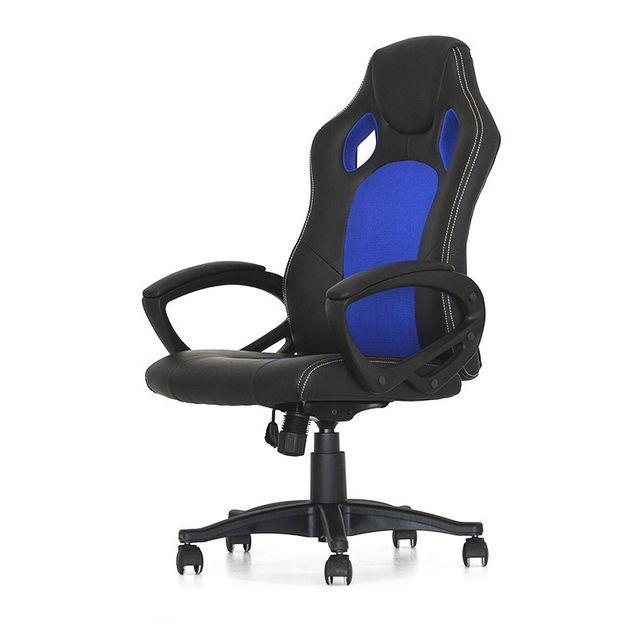 Pure Noir Bureau Et De Bleu Design Pivotante Chaise Coach YvfIg6b7y