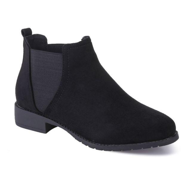 729d7c916e6d9 Lamodeuse - Chelsea boots noires en suédine - pas cher Achat   Vente ...