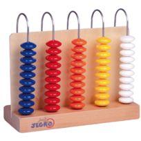 Jegro - abaque a compter en bois, 5 colonnes de 10 pieces chacunes