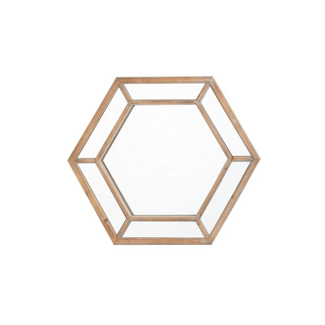 BELIANI Miroir en bois marron clair 71 x 81 cm KOSRAE - marron