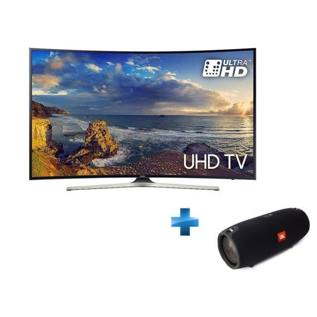 Samsung - TV Led 55'' 55MU6220 4K Smart Tv Incurvée + Enceinte nomade Xtreme - Noir