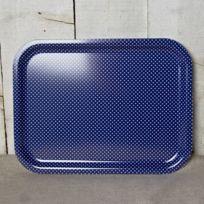 Sabre - Plateau Pois Bleu 37 cm x 28 cm