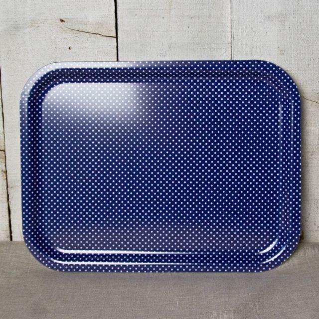 Sabre Plateau Pois Bleu 37 cm x 28 cm