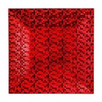 Marque Generique - Lot de 12 dessous d'assiette pixelisée Rouge