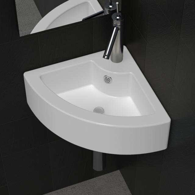 Vidaxl - Vasque à poser/ Lave Main Angle Blanc en céramique + Trop Plein