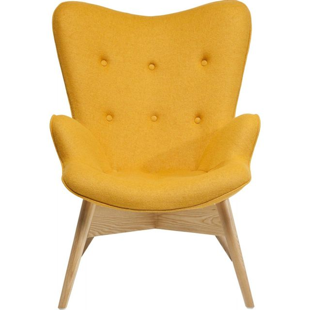 Karedesign Fauteuil Retro Angels Wings jaune eco Kare Design