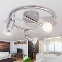 Vidaxl - Lampe de plafond avec 3 Led en nickel satiné