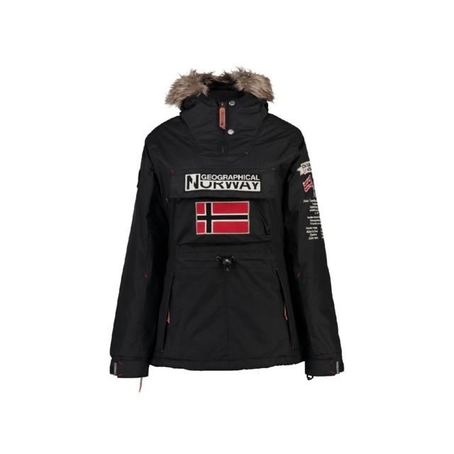 pas mal ebe82 60f67 Geographical Norway - Parka Fille Boomera Noir - pas cher ...