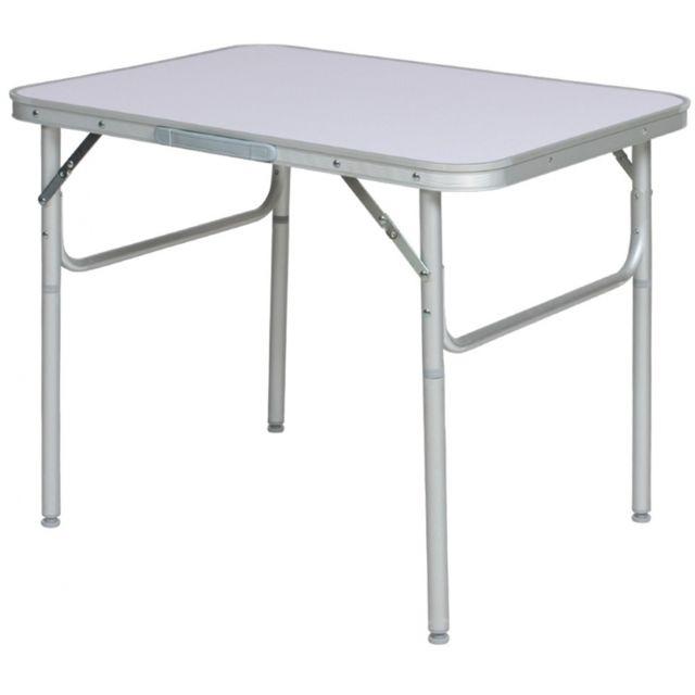 Autre Table de camping jardin pique-nique aluminium pliante 75x55 cm 2008032