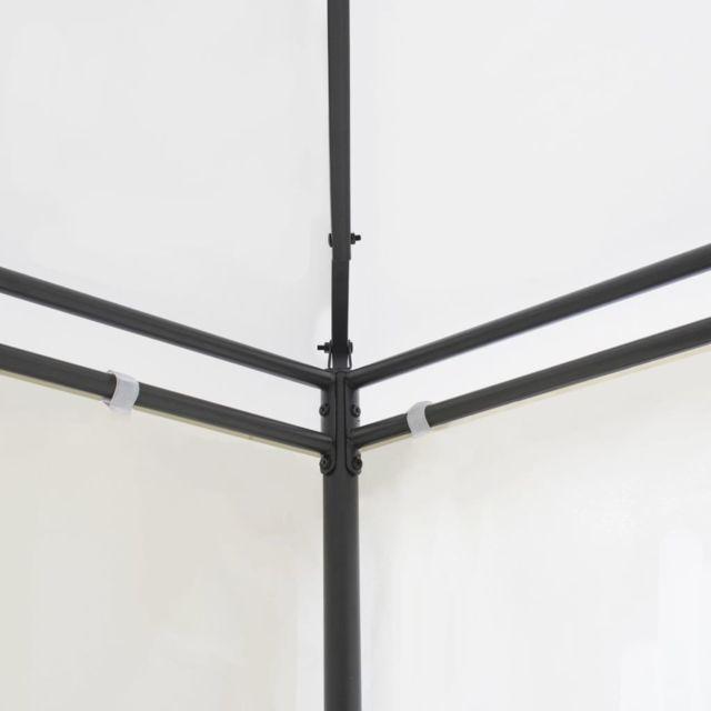 Vidaxl Belvédère avec Rideaux Blanc Tente de Réception