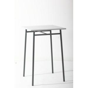 Hespéride - Table haute d\'extérieur Cayey gris 70cm x 106cm x 70cm ...