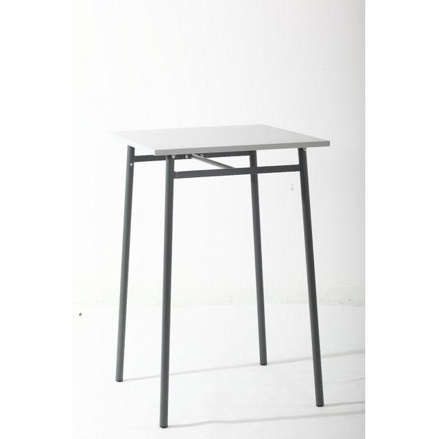 Hespéride Table haute d'extérieur Cayey gris