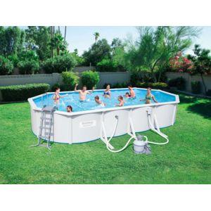Bestway piscine acier ovale x x m pas for Liner piscine 3 60 1 20