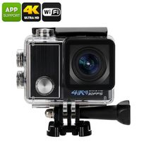 Shopinnov - Action cam ultra Hd Camera sportive 4K Wifi Waterproof Ip68 170° Ecran 2 pouces Modele Noir