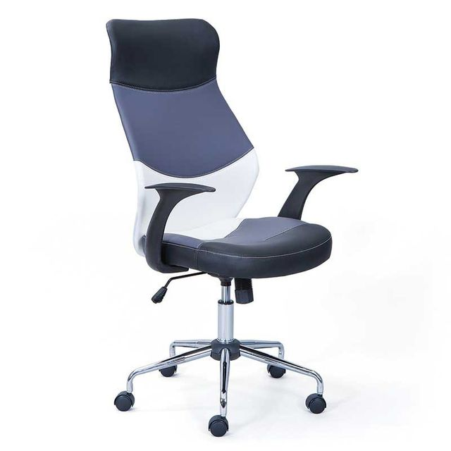 paris prix fauteuil de bureau acapulco gris noir pas cher achat vente bureaux. Black Bedroom Furniture Sets. Home Design Ideas