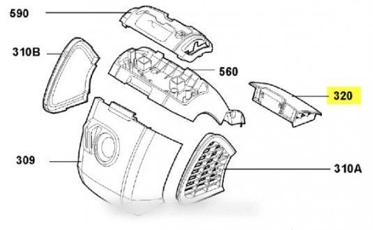Electrolux Couvercle filtre pour aspirateur