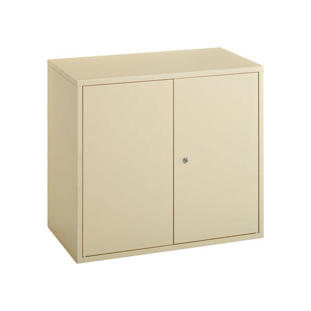 Armoire à portes battantes Economique hauteur 72 cm beige