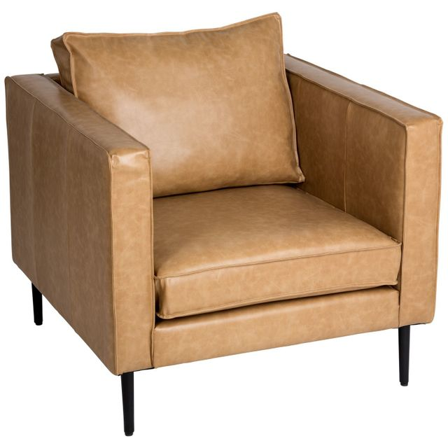 Atmosphera Fauteuil Tadley - L. 90 cm - Marron